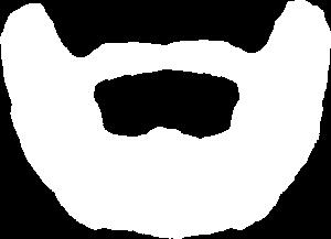 Transparant logo creative beards