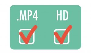 boxen met vinkjes bij .mp4 en HD