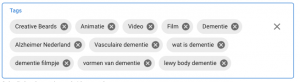 tags keywords en zoektermijn lijst youtube upload