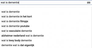 zoekresultaten Youtube wat is dementie